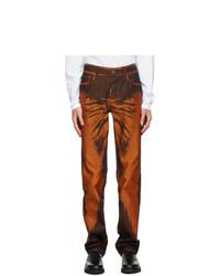 Issey Miyake Men Orange Slim Triangle Jeans