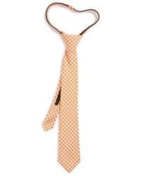 Nordstrom Boys Picnic Gingham Cotton Silk Zipper Tie