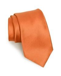 Nordstrom woven silk tie light orange x long x long medium 243639