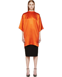Givenchy Coral Satin Short Sleeve Jersey Tunic