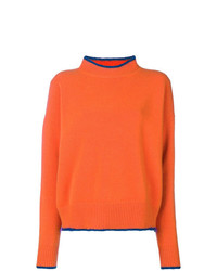 Marni Contrast Trim Crew Neck Sweater