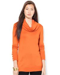 Lauren Ralph Lauren Cowl Neck Button Cuff Sweater