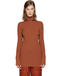 Orange ribbed turtleneck medium 1151863