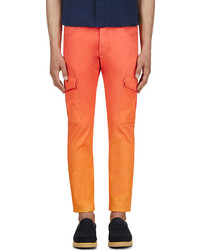 Katie Eary Orange Sunset Twill Cargo Trousers