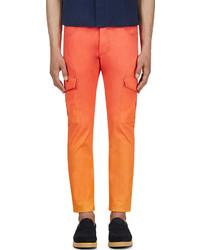 Orange sunset twill cargo trousers medium 600242