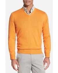 Classic fit v neck sweater medium 365413