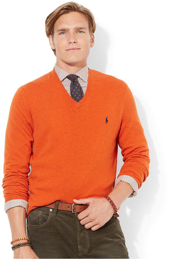 Polo Ralph Lauren Loryelle Merino Wool V Neck Sweater .