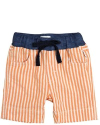 Il Gufo Striped Cotton Seersucker Shorts