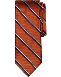 Orange Vertical Striped Tie
