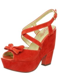 Orange wedge sandals original 1644171