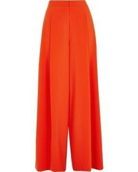 Orange wide leg pants medium 1316941