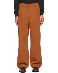 Auralee Orange Wide Leg Trousers