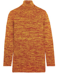 Wool turtleneck sweater orange medium 652379