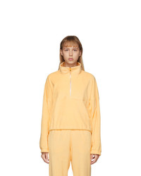 Orange Zip Neck Sweater