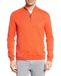Bugatchi Cotton Half Zip Pullover