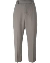 Pantalón capri gris de Rick Owens