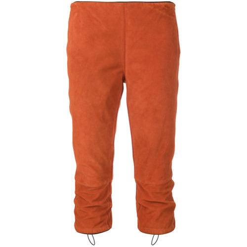Pantalón capri naranja de Prada Vintage