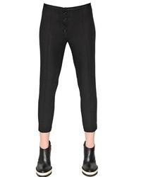 Pantalón capri negro de Ann Demeulemeester