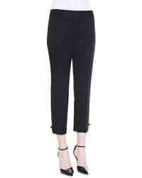 Pantalón capri negro de Kate Spade