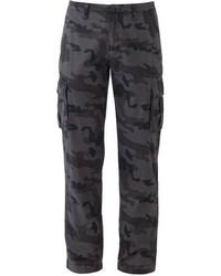 Pantalón cargo de camuflaje en gris oscuro