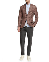 Pantalón cargo de lana en gris oscuro de Brunello Cucinelli
