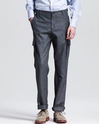 Pantalón cargo en gris oscuro de Brunello Cucinelli
