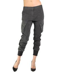 Pantalón Cargo Gris Oscuro