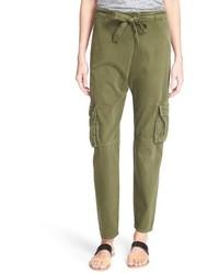 Pantalón cargo verde oliva de Current/Elliott