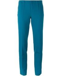 Pantalon carotte en laine bleu canard P.A.R.O.S.H.