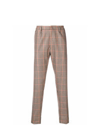 Pantalón chino a cuadros marrón