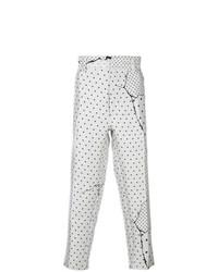 Pantalón chino a lunares blanco de Haider Ackermann