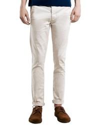 Pantalón chino blanco de Topman