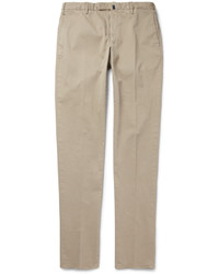 Pantalon chino brun clair Incotex