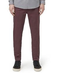 Pantalón chino burdeos de Topman