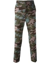 Pantalon chino camouflage vert foncé Givenchy