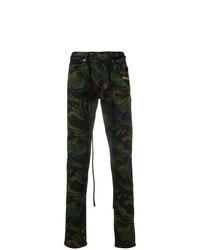 Pantalón chino de camuflaje verde oliva de Off-White