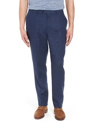 Pantalón chino de lino azul marino