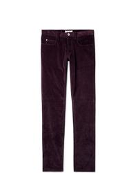 Pantalón chino de pana burdeos
