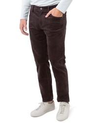 Pantalón chino de pana en marrón oscuro