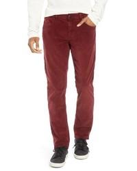 Pantalón chino de pana rojo