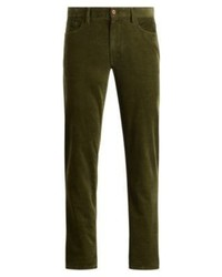 Pantalón chino de pana verde oliva