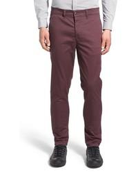 Pantalón chino de sarga burdeos de Topman