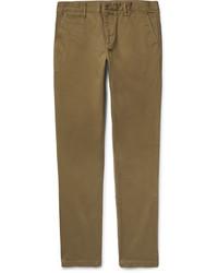 Pantalón Chino de Sarga Marrón de Burberry