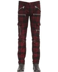 Pantalón chino de tartán rojo de Diesel Black Gold