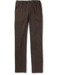 Pantalón chino en marrón oscuro