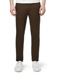 Pantalón chino en marrón oscuro de Topman