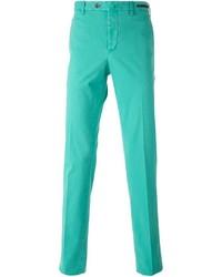 Pantalón chino en turquesa de Pt01