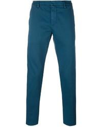 Pantalón chino en verde azulado