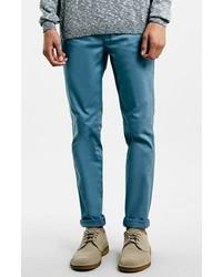 Pantalón chino en verde azulado de Topman