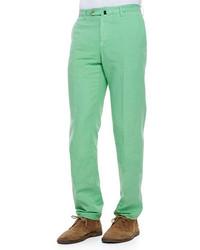 Pantalón chino en verde menta de Incotex